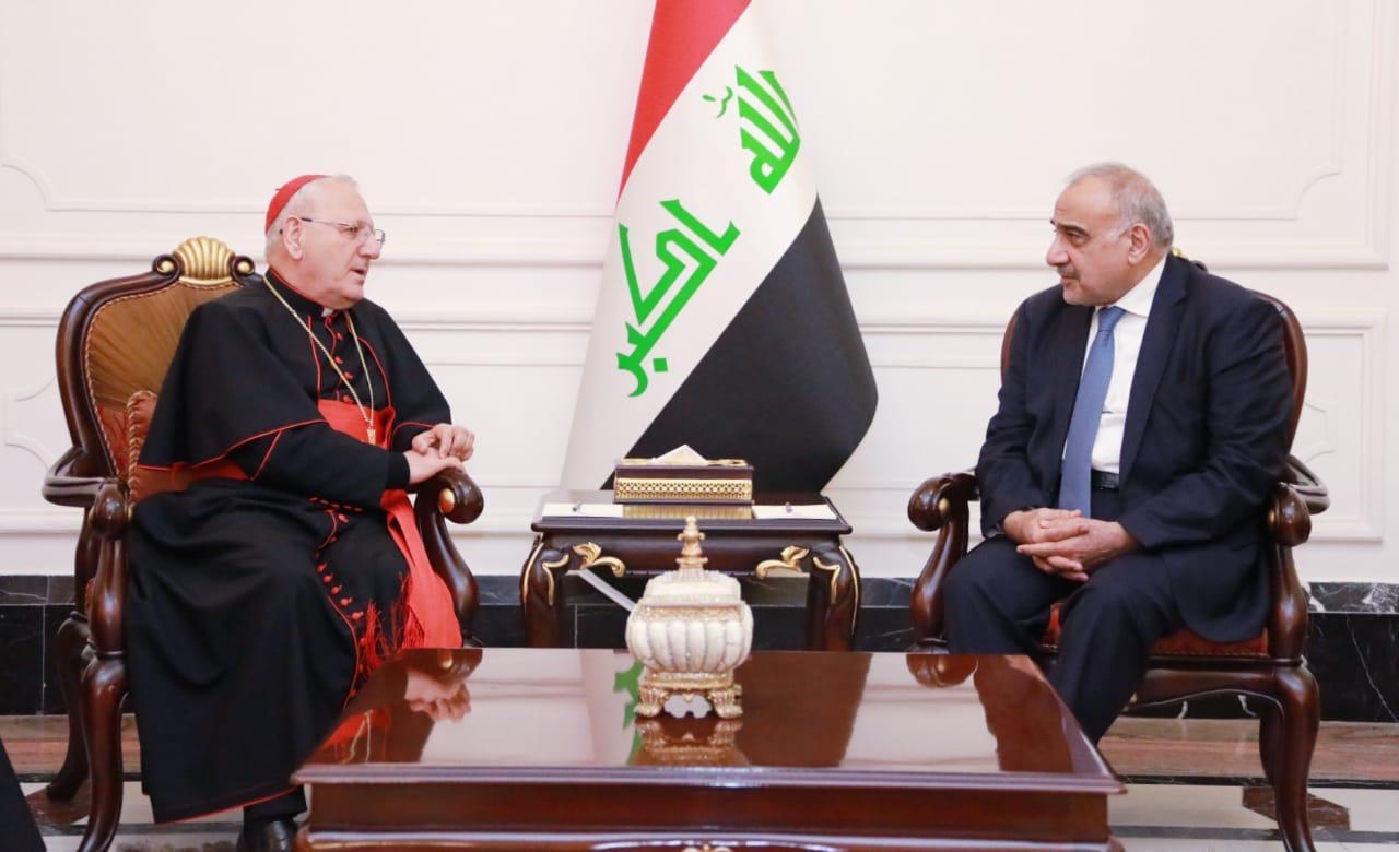 بالصور: رئيس الوزراء يستقبل نيافة الكاردينال مار لويس روفائيل الاول ساكو بطريرك بابل الكلدان في العراق والعالم