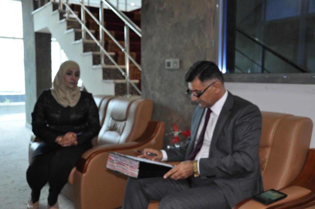 وزير الاتصالات يستقبل شكاوى موظفي الاتصالات وتشكيلاتها والمواطنين في استعلامات الوزارة