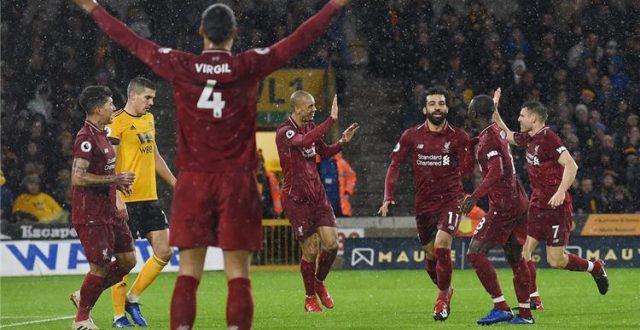 ليفربول يتغلب على ولفرهامبتون بهدفين نظيفين ويعزز صدارته في الدوري الانجليزي