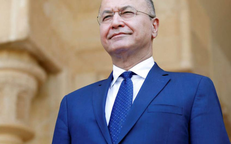 برهم صالح يلتقي بمبعوث الرئيس الامريكي جيمس جيفري