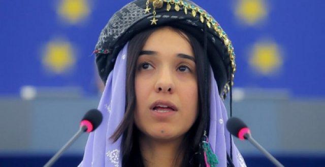 الناشطة نادية مراد تتسلم جائزة نوبل للسلام لعام 2018