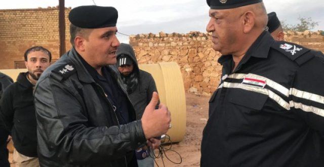 مدير الدفاع المدني يشرف ميدانياً على سيول النجف الاشرف