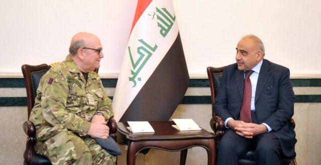 عادل عبدالمهدي يستقبل رئيس الهيئة العسكرية لحلف شمال الاطلسي