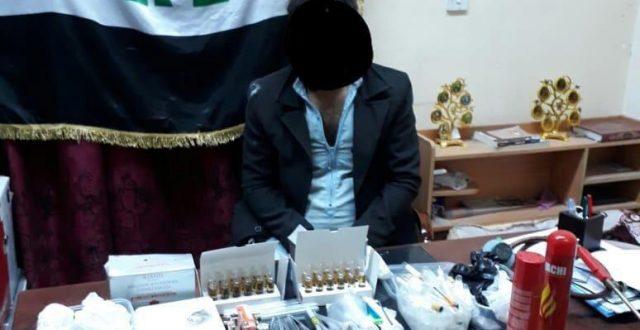 القبض على متهم بحيازة المخدرات من دولة مجاورة في البصرة
