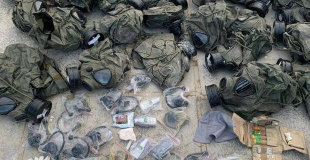 """الحشد الشعبي يعثر على غرفة تحوي مواد كيمياوية لـ""""داعش"""" شرقي صلاح الدين"""