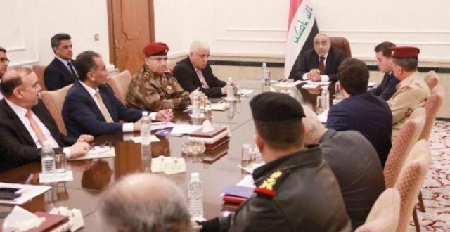 مجلس الامن الوطني يعقد جلسته الاسبوعية اليوم برئاسة رئيس مجلس الوزراء عادل عبدالمهدي