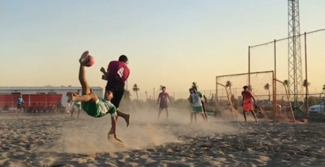 اللجنة الشاطئية تبحث مع ممثل الفيفا انشاء ملاعب خاصة باللعبة