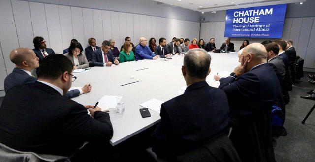 وفد نيابي برئاسة الحلبوسي يشارك في ندوه اقامها مركز الجاتهام هاوس في لندن