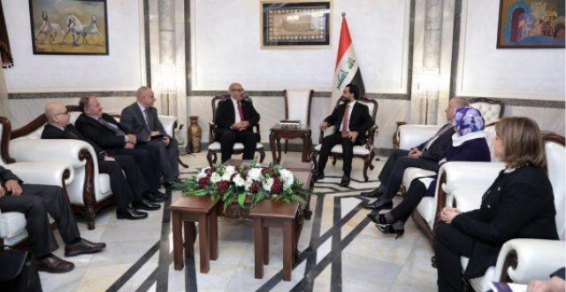 الحلبوسي يوجه دعوة رسمية الى نظيره الفلسطيني لزيارة بغداد
