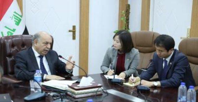 الغضبان لمستشار الرئيس الكوري: العراق عازم على النهوض بواقع النفط مع الشركات العالمية