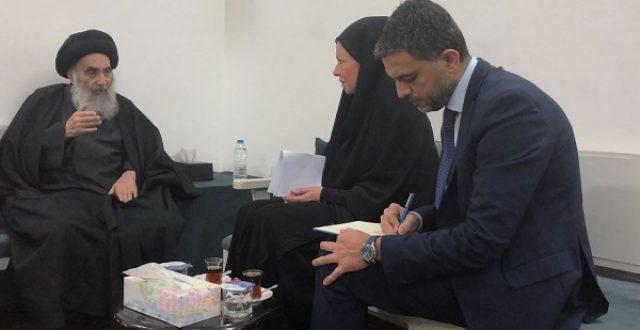 """تعرف على أبرز ما قاله المرجع السيستاني بشأن العراق للممثلة الخاصة للأمين العام للأمم المتحدة """"موسع"""""""