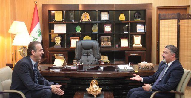 وزير العمل يلتقي منظمة بوابة العدالة ويبدي استعداده لدعم نشاطاتها للنهوض بواقع الطفولة