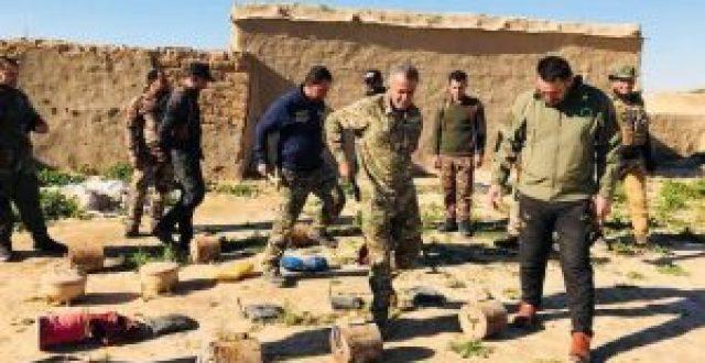 الحشد الشعبي يعثر على عبوات  قمعية ومضادة للدروع وأحزمة ناسفة في الموصل