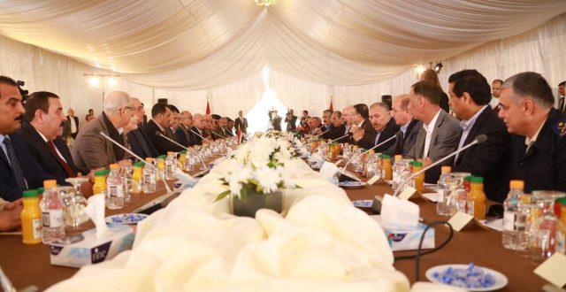 عاجل بدء الاجتماع المشترك بين الحكومتين العراقية والاردنية