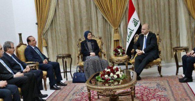 برهم صالح لعدد من السفراء الجدد: سياستنا الخارجية ترتكز على ثوابت وطنية