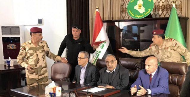 وصول رئيس مجلس الوزراء الى مقر قيادة عمليات نينوى لمتابعة حادث غرق العبارة