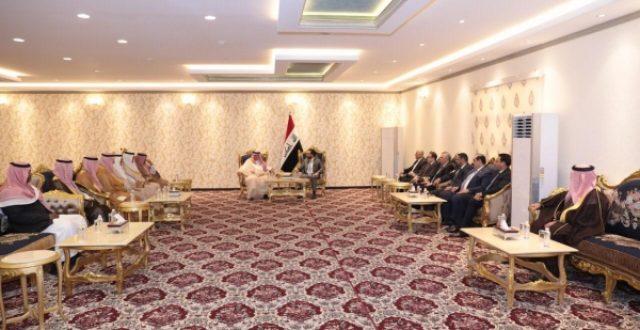 الحلبوسي لوفد سعودي: عازمون على توفير كل أشكال الدعم للنهوض بالقطاع الاستثماري