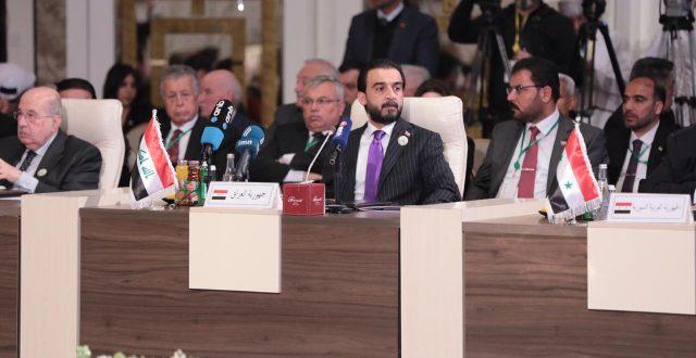 الحلبوسي للبرلمان العربي: موقفنا ثابت ولن يتغير في اقامة دولة فلسطينية عاصمتها القدس