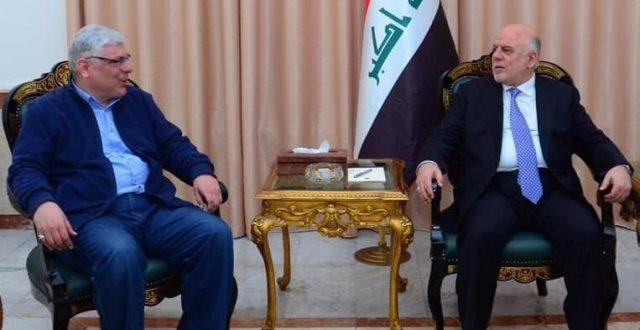 العبادي يستقبل السيد جعفر محمد باقر الصدر