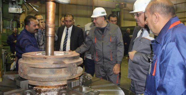 وزير الكهرباء يزور  معامل وورش الشركة العامة لفحص وتاهيل منظومات الطاقة الكهربائية في محافظة بغداد