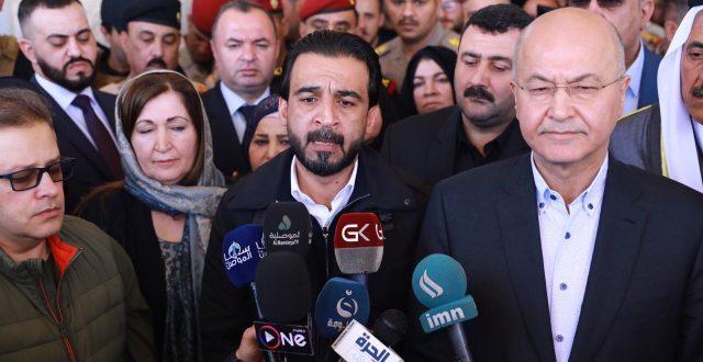 الحلبوسي خلال مؤتمر صحفي مع رئيس الجمهورية : سنعمل على ان تكون هذه النكبة للموصل هي الاخيرة