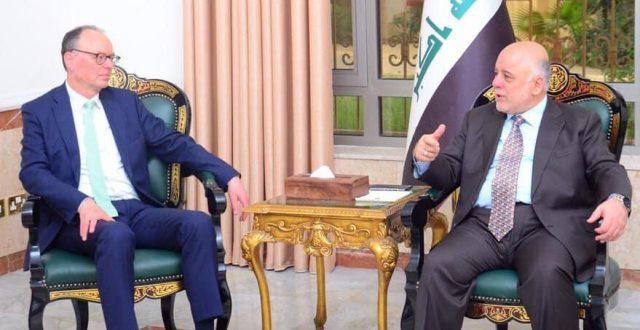 الدكتور العبادي يستقبل مبعوث المانيا الخاص لتحقيق الاستقرار ومنع الازمات