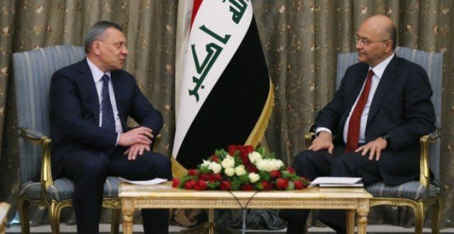مسؤول روسي رفيع يصل الى بغداد ويبحث مع صالح توقيع اتفاقيات