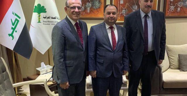 المحمداوي يبحث مع وزير الصحة سبل معالجة ظاهرة تعاطي المخدرات وادمانها