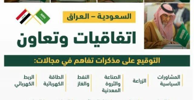 بالصور .. اتفاقيات وتعاون ومذكرات تفاهم في مجلات عدة بين الجانب العراقية السعودية
