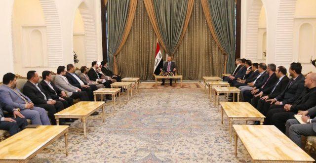 رئيس الجمهورية يستقبل وفد اتحاد الاذاعات والتلفزيونات العراقية
