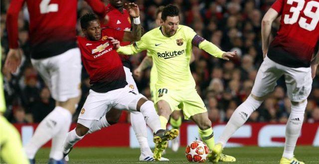 """برشلونة يخطف فوزاً ثميناً من مضيفه مانشستر يونايتد ويكسر عقده ملعب """"الاولد ترافولد"""""""