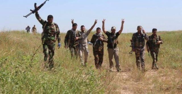 تدمير مضافات لداعش في تلال حمرين