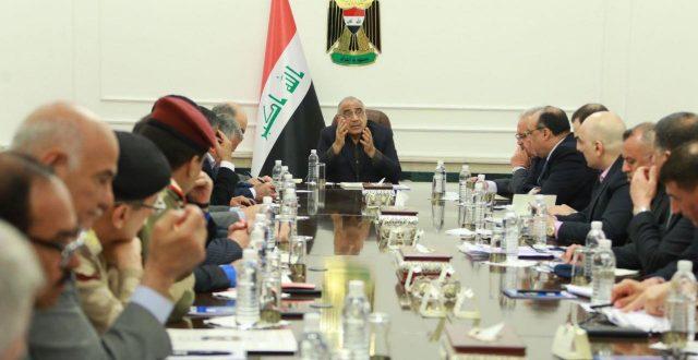 عبدالمهدي يعقد اجتماعا خاصا لتقييم وضع مياه السيول والاطمئنان على سلامة الخطط والاجراءات المتخذة