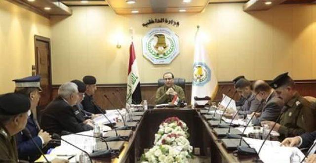 وكيل الداخلية الاقدم يترأس اجتماع هيئة رأي الوزارة