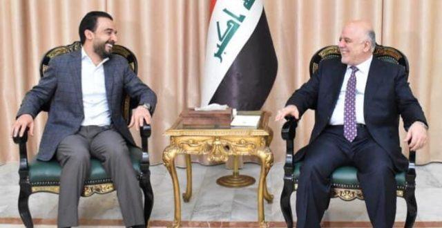 العبادي يستقبل رئيس مجلس النواب محمد الحلبوسي