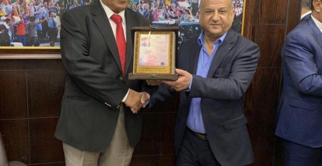 تكريم الزميل رئيس تحرير جريدة النهار حسن جمعة من قبل جريدة الدستور الاردنية