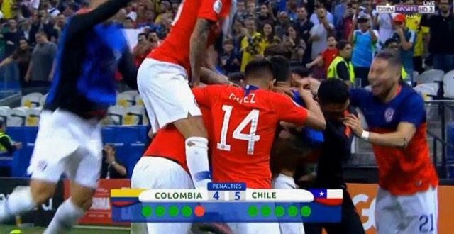 ركلات الحظ تبتسم لتشيلي وتقصي كولومبيا من بطولة كوبا أمريكا