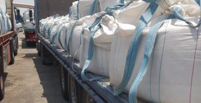 المنافذ الحدودية تضبط اكثر من 500 طناً من مادة حفر الآبار لم يصرح بها في خور الزبير