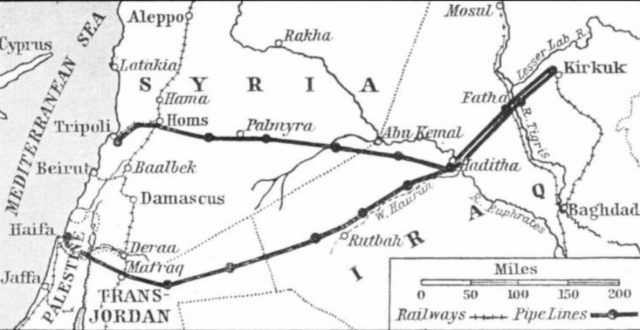 انباء عن محادثات بين العراق وسوريا ولبنان لإحياء خط انابيب يربط كركوك بميناء طرابلس اللبناني