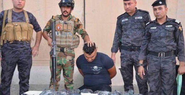 شرطة البصرة تعتقل اكبر تاجر مخدرات في المحافظة