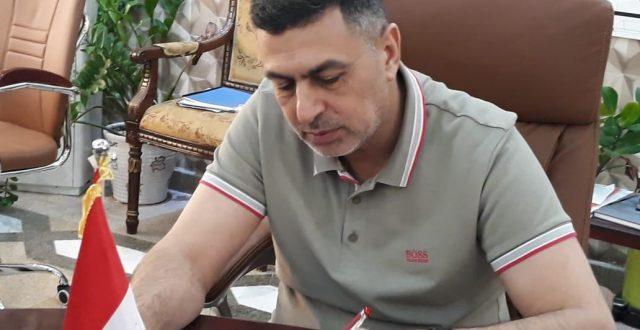 العيداني يصادق على تحويل الاجور اليومية الى عقود في مديرية بلدية البصرة