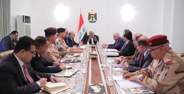 مجلس الأمن الوطني يعقد جلسته الاعتيادية برئاسة رئيس مجلس الوزراء عادل عبد المهدي