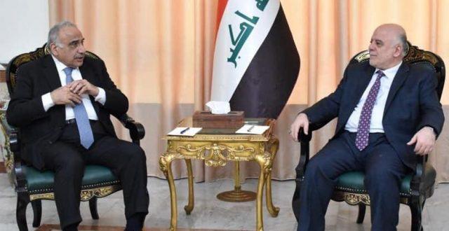العبادي يستقبل رئيس مجلس الوزراء السيد عادل عبد المهدي