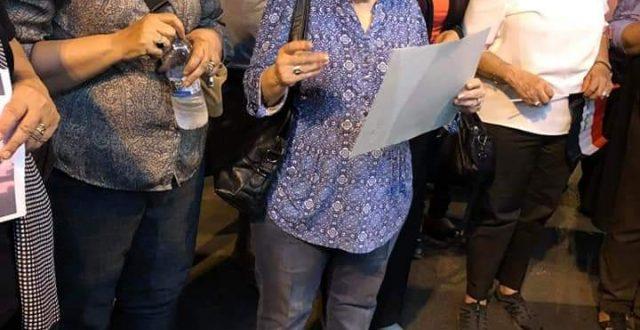 بالصور: حالة الناشطة المدنية هناء ادور بعد تعرضها الى حادث دهس حال انتهاء تظاهرة يوم امس في ساحة التحرير
