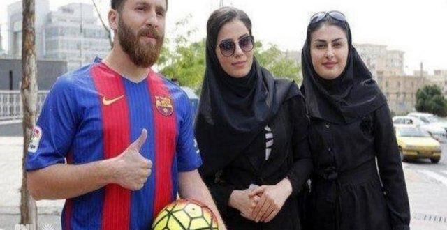 شاب إيراني يشبه ميسي ويستغل هذا الشبه لأمور غير مشروعة