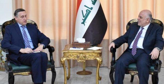 العبادي يستقبل السفير الالماني في بغداد سيريل نون