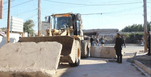 امانة بغداد تعلن رفع كتل كونكريتية واكساء شارع متضرر في العاصمة
