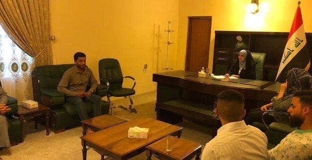 التميمي تستقبل عددا من الوفود في مكتبها لشؤون المواطنين في بغداد