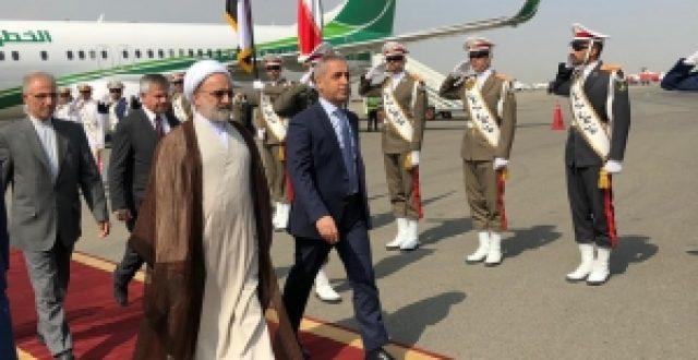 رئيس مجلس القضاء الاعلى يصل ايران