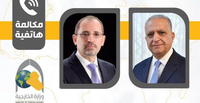 وزير الخارجية يتلقى اتصالا هاتفيا من نظيره الأردني ايمن الصفدي